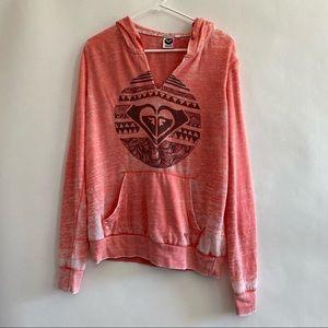 Pink Roxy hoodie sweatshirt size large